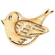 Optys dřevěný výřez vrabčák, 5 x 3 cm - Dřevěné výřezy