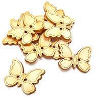 Optys dřevěný výřez knoflíčky motýlci, 2,5 x 2 cm, 10 ks - Dřevěné výřezy