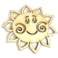 Optys dřevěný výřez sluníčko, 10 x 9 cm