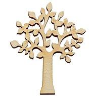 Optys dřevěný výřez listnatý strom plný, 10 x 8 cm - Dřevěné výřezy