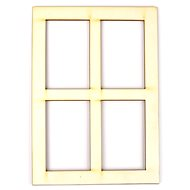 Optys dřevěný výřez okno, A5 - Dřevěné výřezy