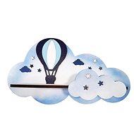 Dětský nábytek Polička - létající balon/modrý
