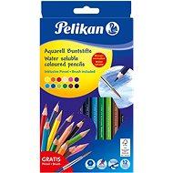 Pastelky akvarelové 12 barev lakované - Pastelky