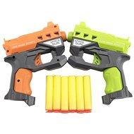 Teddies Pistole 2ks 12cm na pěnové náboje + 6ks nabojů