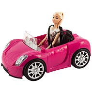 Teddies Panenka kloubová 30cm s autem na volný chod