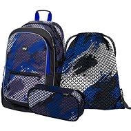 BAAGL Set 3 Core Paintball: batoh, penál, sáček - Školní set