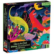Svítící puzzle - Dinosauři (500 ks) - Puzzle