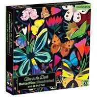 Svíticí puzzle - Motýli (500 ks) - Puzzle