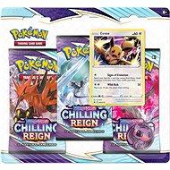 Pokémon TCG: SWSH06 Chilling Reign- 3 Blister Booster - Karetní hra