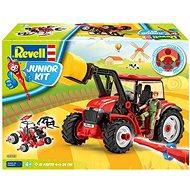 Junior Kit traktor 00815 - Tractor with loader incl. figure - Plastikový model
