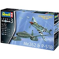Plastic Modelkit letadla 03711 - Me262 & P-51B - Model letadla
