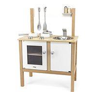 Kuchyňka Dřevěná kuchyňka bílá