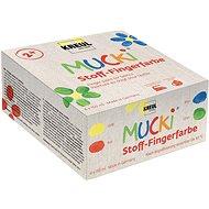 """Kreul """"Mucki"""" Sada prstových barev na textil, 4 barvy 150 ml, Hobby Line - Sada"""