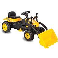 Jamara Šlapací traktor Strong Bull se lžící žlutý - Šlapací traktor