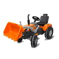 Jamara Šlapací traktor Power Drag se lžící oranžový - Šlapací traktor