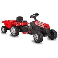 Jamara Šlapací traktor Strong Bull s přívěsem červený - Šlapací traktor