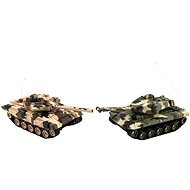 Teddies Tank RC 2ks 25cm tanková bitva+dob. pack 27MHZ a 40MHz maskáč