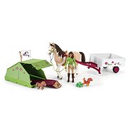 Schleich Sarah with Horse and Animals Camping