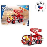 Malý mechanik -  hasičské auto s plošinou, 327 ks, 28x37cm