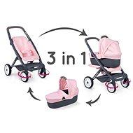 Kočárek pro panenky Smoby Kombinovaný kočárek Maxi Cosi světle růžový pro panenky