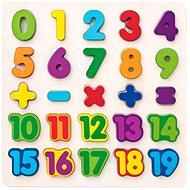 Woody Puzzle - číslice na desce - Puzzle