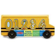 Melissa-Doug Dřevěný autobus s vkládacími čísly - Didaktická hračka