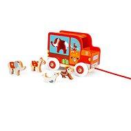 Scratch Náklaďák se zvířátky Cirkus - Dřevěná hračka