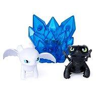 Draci 3 Multi dárkové balení - Bezzubka a Bílý drak (Lightfury) - Figurky