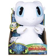 Dragons 3 With Sound Effects - White Dragon (Lightfury) - Plush Toy