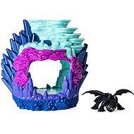 Draci 3 Svítící dračí jeskyně s figurkou Bezzubky - Herní set