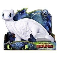 Draci 3 Velká plyš delux - Bílý drak (Lightfury) - Plyšák