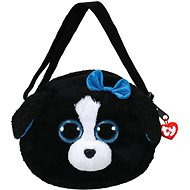 Ty Gear shoulder bag Tracey - black/white dog 15 cm - Plyšová hračka