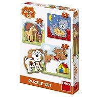 Dino Zvířátka 3-5 baby - Puzzle
