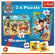 Puzzle 2in1 + memory game Paw patrol - Puzzle