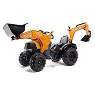 Traktor šlapací Case s přední i zadní lžící - Šlapací traktor