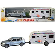 MaDe Car with Caravan, 26cm, Pull-back