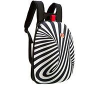 Zipit Shell batoh černý s bílými spirálami - Městský batoh