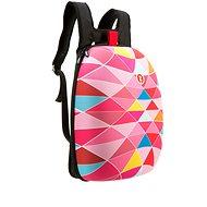 Zipit Shell batoh růžové trojúhelníky - Městský batoh