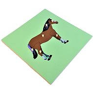 Puzzle with a skeleton - a horse - Puzzle