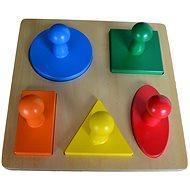 Puzzle - geometrické tvary - Puzzle
