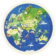 Goki oboustranné puzzle – zeměkoule - Puzzle