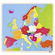 Goki puzzle na desce - Evropa - Vkládačka