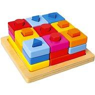 Vkládací tvary na desce barevné - Didaktická hračka
