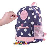 Pixie Crew dětský batoh modrý s bílým puntíkem - Dětský batoh