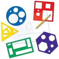 Šablony základních geometrických tvarů - Didaktická hračka