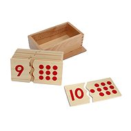 Numbers and polka dots - puzzle - Educational Toy