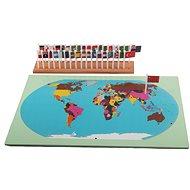 Svět - mapa s vlajkami (na stojánku) - Didaktická hračka