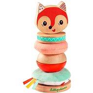 Didaktická hračka Lilliputiens - liška Alice - stohovací pyramida