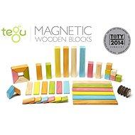 Magnetická stavebnice TEGU Tints - 42 dílů - Dřevěná stavebnice