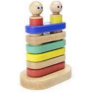 Dřevěná stavebnice Magnetická stohovací hračka TEGU - Big Top